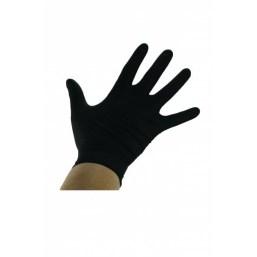 Rękawiczki rozmiar L Czarne nitrylowe